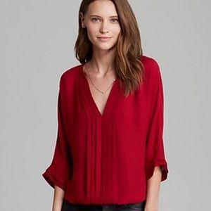 Joie Marru red silk blouse L